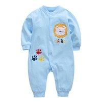 Brand New Baby Rompers Boys Girls Clothes Baby Pajamas Sleepwear Children Cartoon Lion Jumpsuit Infant Cotton