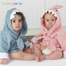 0 24Months Spring Autumn Children Hooded Bath Towel Baby Girls Boys Pijamas Cartoon Kids Bathrobe Infant