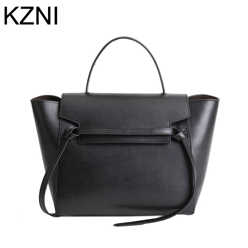KZNI Genuine Leather Purse Crossbody Shoulder Women Bag Clutch Female Handbags Sac a Main Femme De Marque  L121842 kzni tote bag genuine leather bag crossbody bags for women shoulder strap bag sac a main femme de marque luxe cuir 2017 l042003