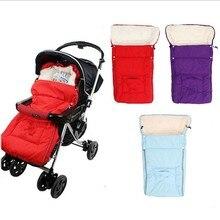Горячая Распродажа 1 шт. теплый Конверт для новорожденных Детские коляски флис спальный мешок Footmuff мешок детская складная прогулочная коляска fTRQ0335