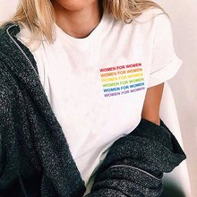 Hahayule HJN Arcobaleno Delle Donne Per Le Donne T-Shirt LGBT Pride Moda Donna Tette Top Slogan Tee T Shirt(China)