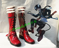 Blue Exorcist Rin Okumura Rojo Largo De Halloween Cosplay Shoes Boots H016