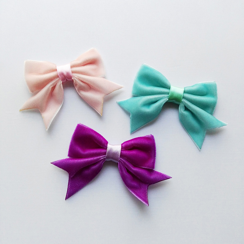 Accessories Vintage Baseball Fabric Bow Hair Bow Boutique Handmade