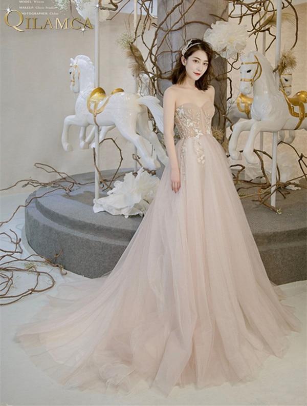 Livraison gratuite 2018 robe de soirée chérie cou longue robe de bal Sexy une ligne robe sur mesure