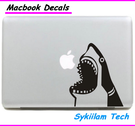 Акула перейти Едим Логотип sproof для apple Наклейка для Macbook Air 11 12 13 Pro 13 15 17 Retina Кожи Ноутбук Стены Винила Автомобиля Наклейка