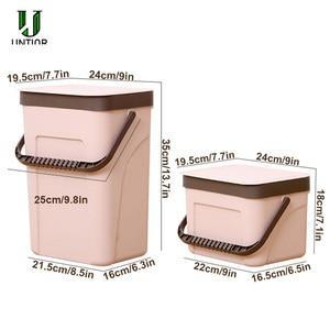 Image 5 - UNTIOR Wall mounted Trash Can Household Kitchen Plastic Portable Storage Bucket Waste Bin Creative Bathroom with Lid Trash Bin