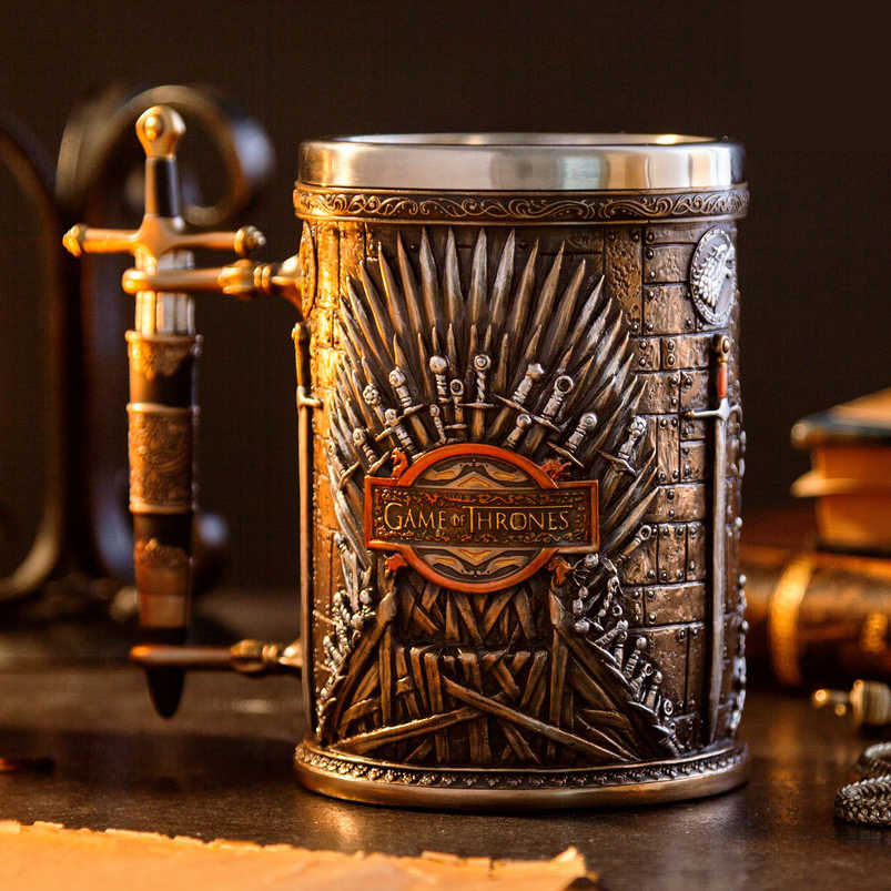 Game of Thrones Trono di spade Boccale Tazze di Caffè In Acciaio Inox Resina Tazze e Tazzine Creativo Articoli e Attrezzature per Acqua, Caffè, Tè Mark