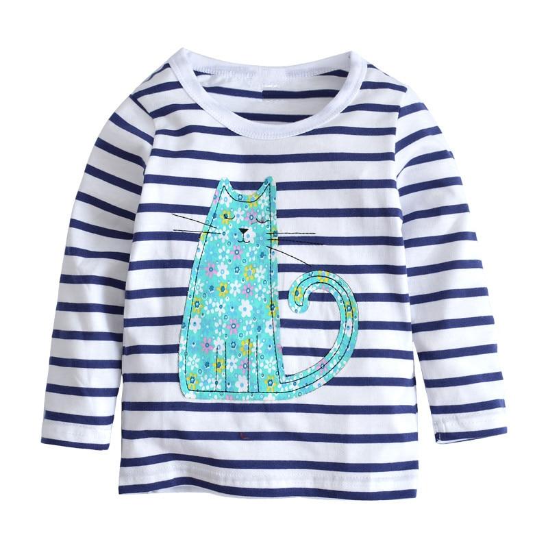Jumping baby  Girls T Shirt Children Clothes Kids Long Sleeve Tees Tops autumn Cotton Camiseta T-shirts Roupas Infantis 1