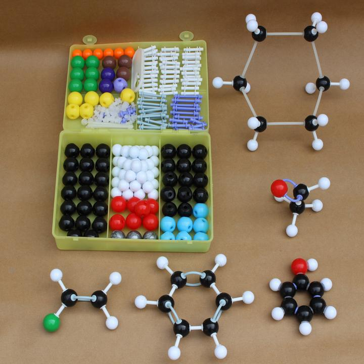 267pcs Molecular Model Set Kit - General And Organic Chemistry For School Lab Teaching Research molecular model kit lz 23177 chemistry organic molecule structure models set student and teacher estuches school free shipping