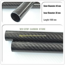 40mm ODx 36mm ID Carbon Fiber Tube 3k 1000MM Long (Roll Wrapped) carbon pipe , with 100% full carbon, Japan 3k improve material