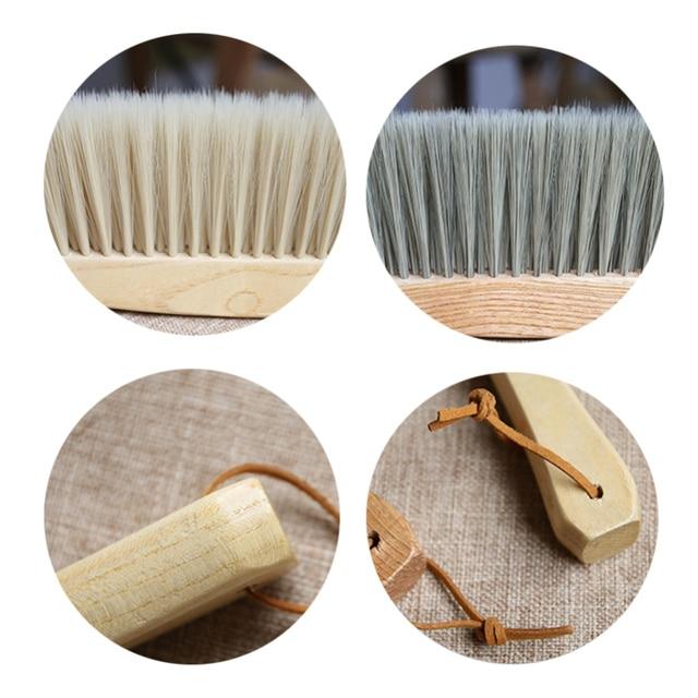 Bamboo Handle Mini Brooms Shovel Set Household Plastic Cleaning Brush Small Broom Dust Shovel 6