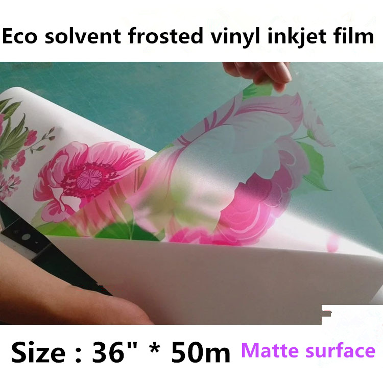 36 inch PVC deorative matte frosted window film , window glass frost film with self adhesive for eco solvent inkjet printer