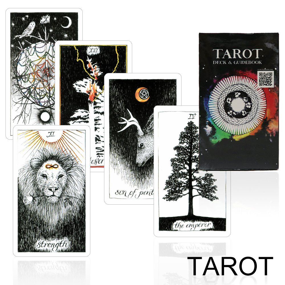 full English tarot cards deck card game mysterious Unknown fortune tarot family game for adult board game 2018 full english nature tarot cards mysterious animal playing cards game for party family board game
