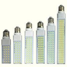 10 Вт, 12 Вт, 15 Вт, 18 Вт, 20 Вт, 25 Вт E27 G24 G23 светодиодный кукурузы лампа светильник SMD 5730/5630 Точечный светильник 180 градусов AC85-265V с горизонтальным разъемом светильник