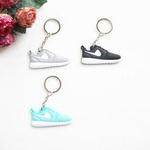 Mini Silicone Roshe Run Shoes Keychain Bag Charm Woman Men Kids Key Ring Gifts Key Holder Accessories Jordan Sneaker Key Chain