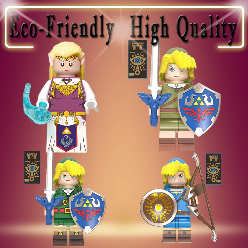 Zelda Game Princess Zelda Link Building Blocks NinjagoINGLY Dolls Action Model Figures Toys For Children Gifts WM6053