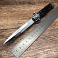BMT-couteau pliant de survie tactique, AKC 440C, manche en acrylique à lame de miroir, 11