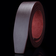 Men High Quality Business Formal Wide Leather Belt Black Mens without Buckle Luxury Brand Designer Coffee Belts