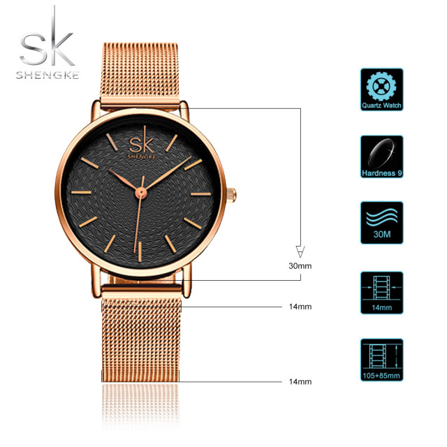 Women Golden Wrist Watch