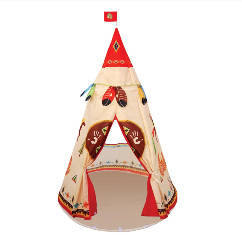 YARD Play Tent Children Teepee Tent Play Tent Indian Teepee Playhouse Kids Children Castles mrpomelo children indoor indian teepee play house solid blue garden game playhouse 100