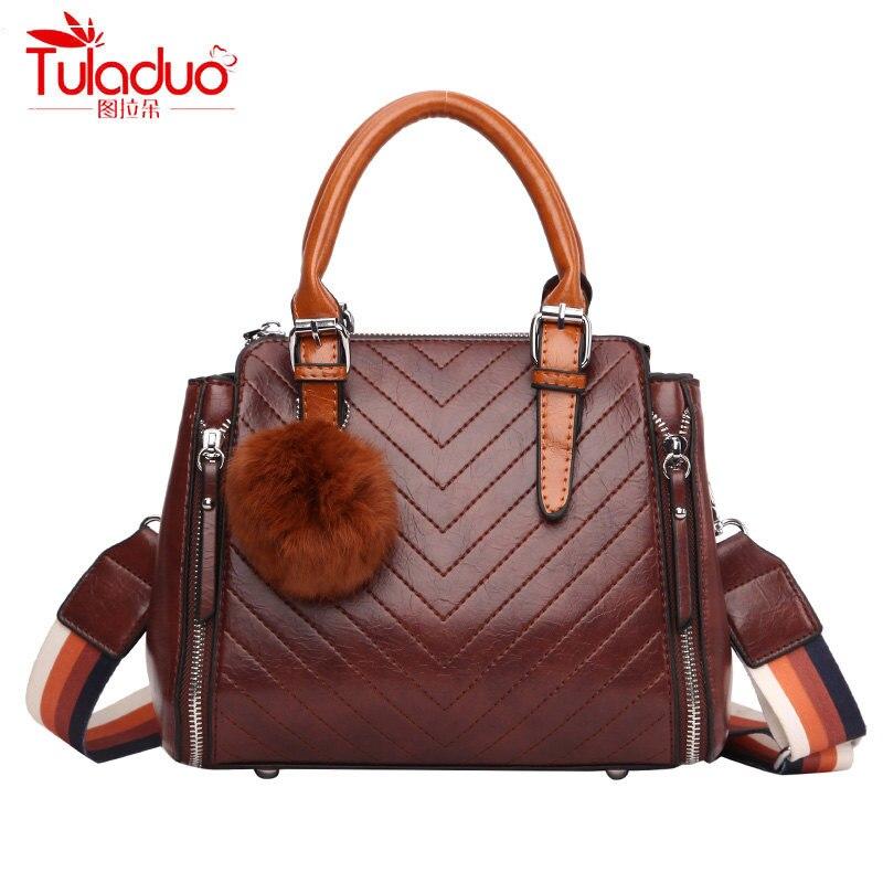 TULADUO модные женские сумки масляные кожаные женские сумки на плечо полный шар винтажные женские сумки-тоут большой емкости женские сумки