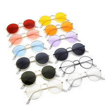 Xinfeite Sunglasses Classic Vintage Metal Round Frame Colorful UV400 Sun Glasses