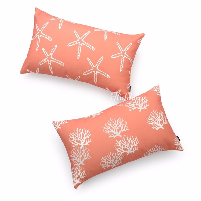 lumbar hofdeco decorative throw detail starfish coral itm coastal pillow seahorse cover
