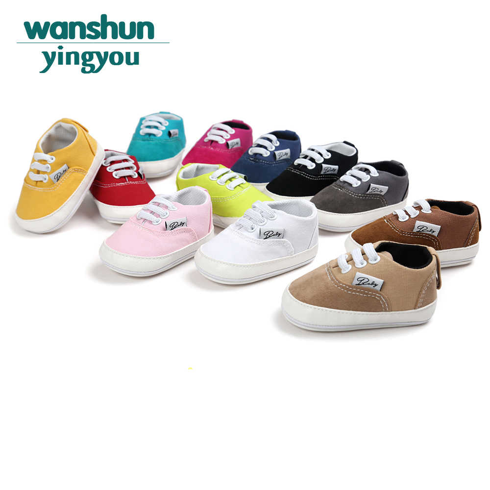 d76e5587ebc8a Baby First Shoes Baby Shoes New Canvas Classic Sports Sneakers Newborn Baby  Boys Girls First Walker