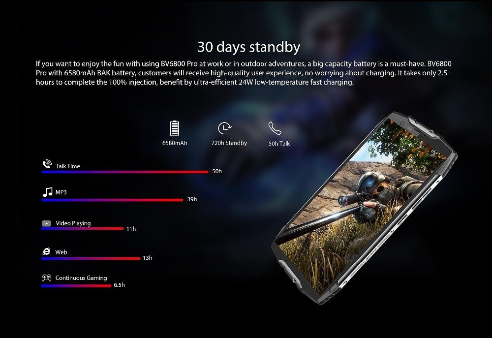 "HTB1RIQbKeuSBuNjSsplq6ze8pXad Blackview BV6800 Pro Android 8.0 Outdoor Mobile Phone 5.7"" MT6750T Octa Core 4GB+64GB 6580mAh Waterproof NFC Rugged Smartphone"