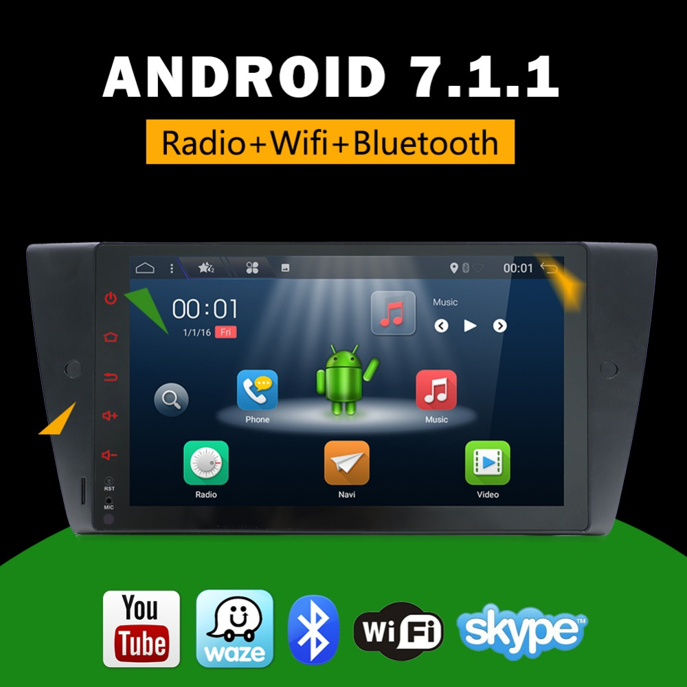 9 1 din android 7 1 car DVD multimedia for 2005 2012 BMW E90 E91 E92