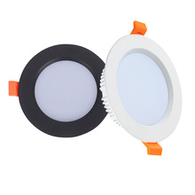 화이트 블랙 LED 통 3W 5W 7W 9W 12W 15W 18W 알루미늄 Recessed LED 자리 조명 침실 부엌 실내 led 빛 램프