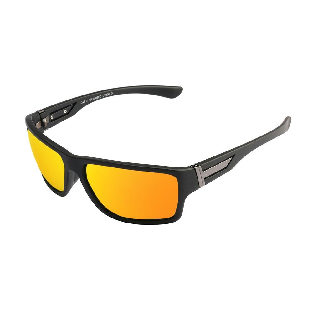 Lunettes de soleil de sports de plein air lunettes anti-uv polarisantes vélo équitation verres de ski pour l'homme et les femmes , black and red