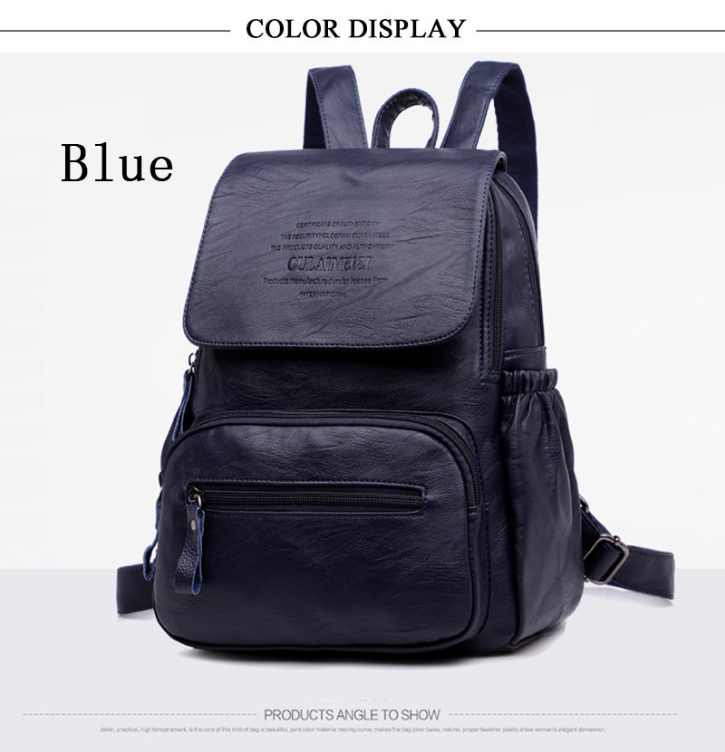 HTB1RIR1rf9TBuNjy0Fcq6zeiFXaD LANYIBAIGE 2018 Women Backpack Designer high quality Leather Women Bag Fashion School Bags Large Capacity Backpacks Travel Bags