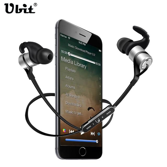 Ubit d9 sports sem fio bluetooth earphone anti-suor fone de ouvido de metal fones de ouvido fones de ouvido com microfone de ouvido para iphone smartphones