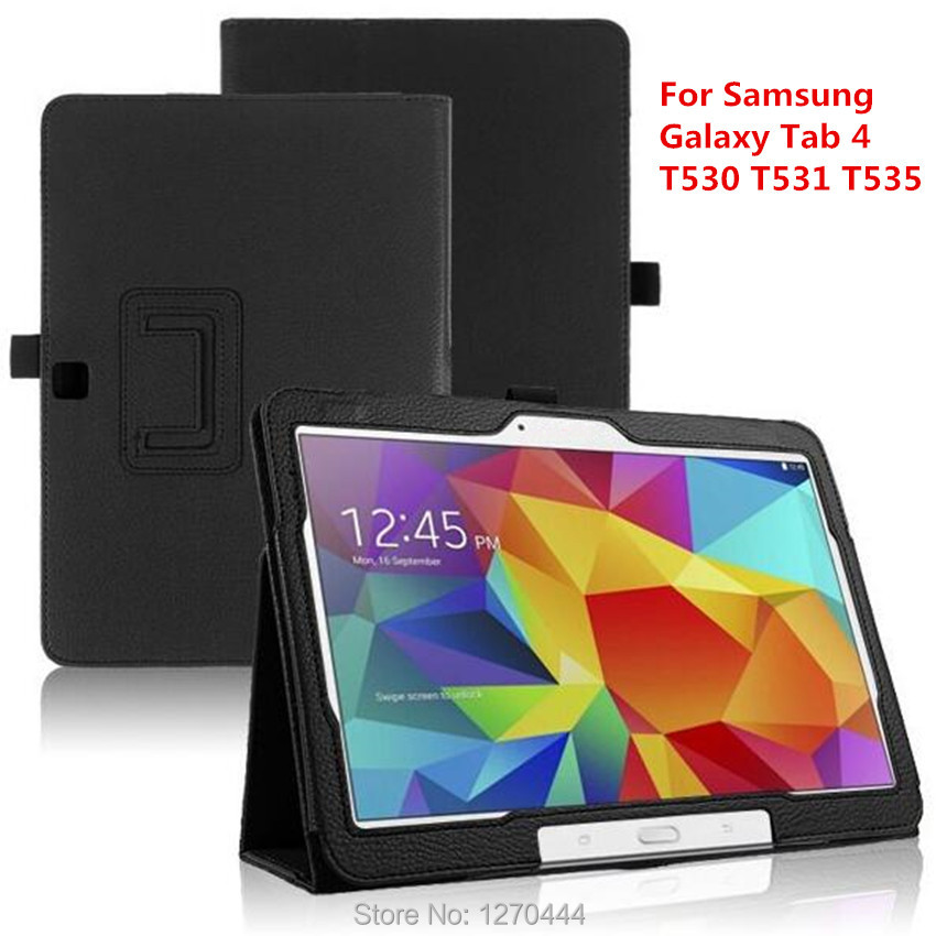 For Samsung Tab4 Litchi skin PU Leather stand protective cases cover For Samsung Galaxy Tab 4 T530 T531 T535 Tablet+pen+Film+OTG pu leather tablet case cover for samsung galaxy tab 4 10 1 sm t531 t530 t531 t535 luxury stand case protective shell 10 1 inch
