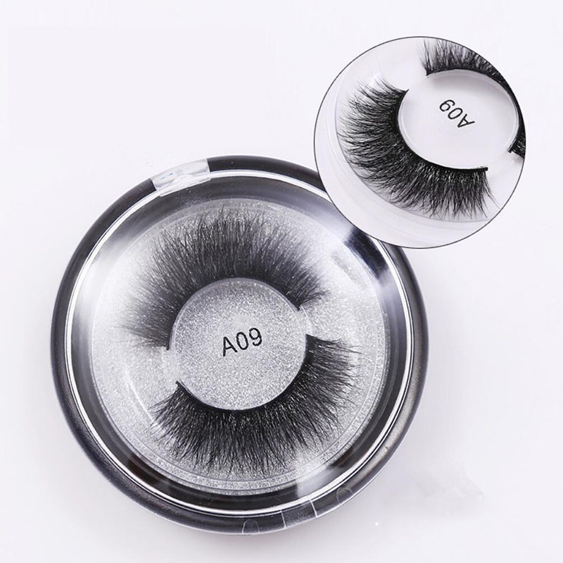 A09 Luxurious Natural 3D Mink Eyelashes Thick Fake Eye Lashes Full Strip False Eyelash Extentions Cilios Eye Makeup Tools