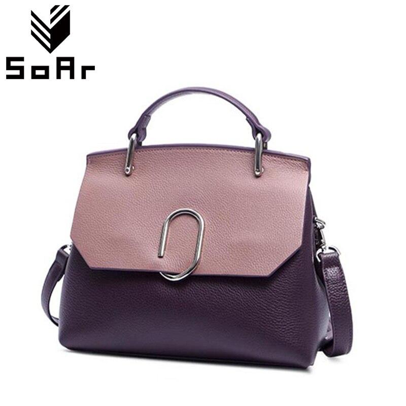 Women Messenger Bags 100 Genuine Leather Handbag Female Bolsa Feminina Luxury Famous Brand Shoulder Bags Women