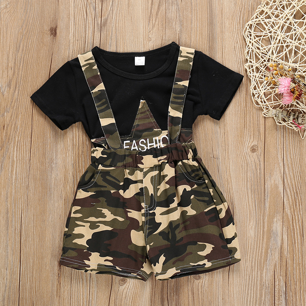 Suspenders Pants Shorts Print Baby-Girl Fashion Letter for Adjustable Braces