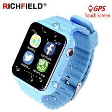 V7k Crianças GPS Relógio Inteligente Relógio para Crianças Relógio Smartwatch Criança Do Bebê Localização Antil perdida Chamada SOS Rastreador 2G Cartão PK Q528 Q80