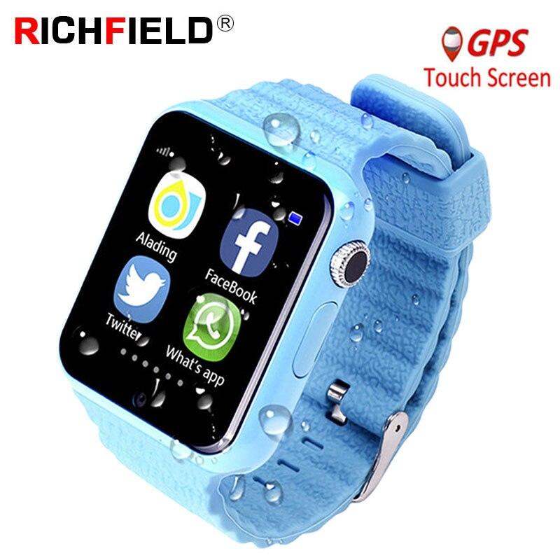 V7k Детские Смарт часы с GPS смарт детские часы для Детские умные часы расположение детских часов SOS Antil lost трекер вызова 2G карта PK Q528 Q80-in Смарт-часы from Бытовая электроника