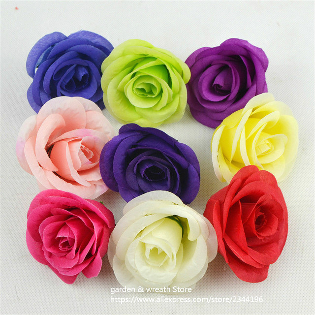 Red yellow purple white blue green fuchsia pink lavender 7cm silk red yellow purple white blue green fuchsia pink lavender 7cm silk rose heads artificial mightylinksfo