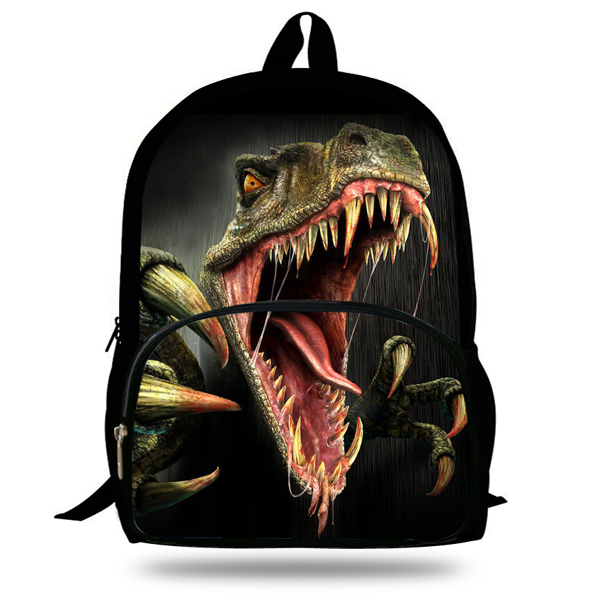 16 inch 2015 hot children animal bag dinosaur backpacks for school boys girls printed