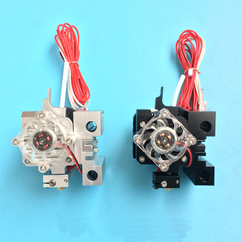 3D printer Prusa i3 full set of extruder with moto Heat sink compatible with E3D Titan Aero MK2 extrusion print head hotend 2017 newest tevo tarantula 3d printer impresora 3d diy impressora 3d with filament micro sd card titan extruder i3 3d printer