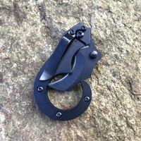 ציד סכין קטן סוסון ים טקטי טופר צוואר סכין מחנה טיול חיצוני הגנה עצמית מעליב ציד EDC הישרדות כלים סכין-בכלי גינה מתוך ספורט ובידור באתר