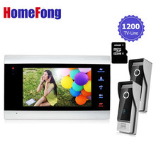 Homefong Recordable Video Door Phone Intercom System+Vandal-proof/Waterproof outdoor unit with camera Video photo 16GB SD Card