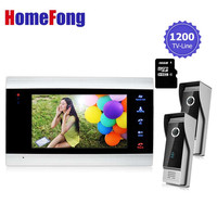 Homefong Recordable Video Door Phone Intercom System Vandal Proof Waterproof Outdoor Unit With Camera Video Photo