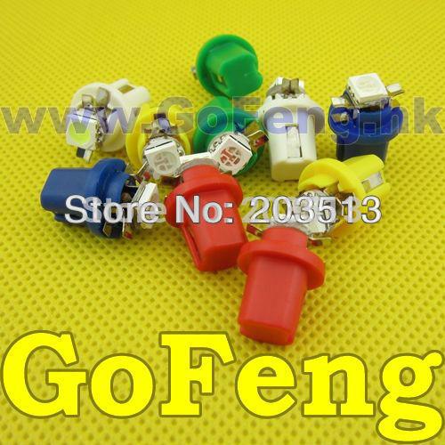Free Shipping 500pcs/lot T5 B8.5D 1SMD LED Dashboard Light Bulbs LED Auto Bulb LED Car Lights