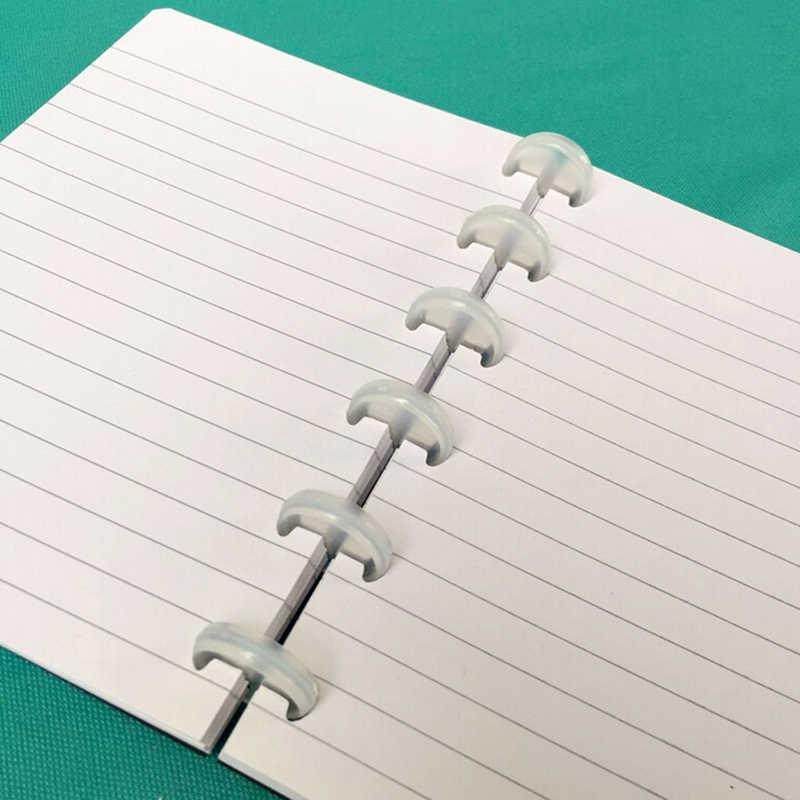 10 stks/pak T Paddestoel Gat Disc-binding Losse Boekbinden Ring Disc Arc Binding Notebook Arc Binding Notebook Kantoor levert