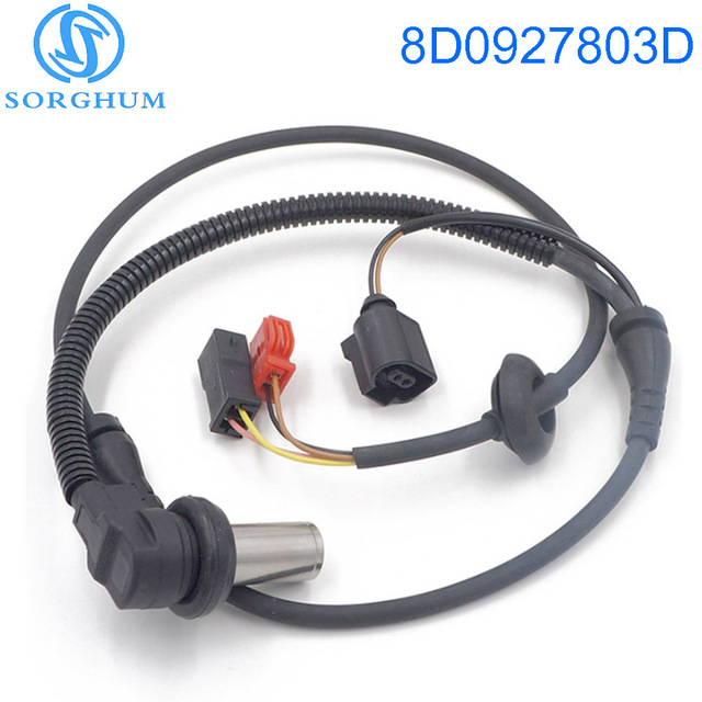 8D0927803D Front ABS Wheel Speed Sensor For 2000-2004 VW Passat For Audi A6 Quattr 4B0927803C  ALS424 AUDI A4 SKODA VW Passat B5