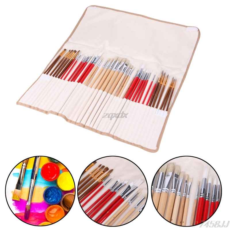 38Pcs Artists Paint Brushes Art Set For Acrylic Oil Watercolor 3 Style Portable G12 Drop ship various artists various artists mamma roma addio